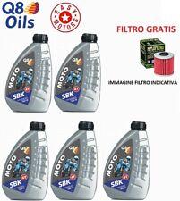 CINQUE LITRI OLIO MOTORE + FILTRO OLIO HARLEY.D FXSTD SOFTAIL DEUCE 1450 00/06
