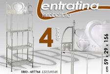 ENTRATINA 4 RIPIANI H156*59*29 SCAFFALE CUORE INGRESSO METALLO BIANCA 657764