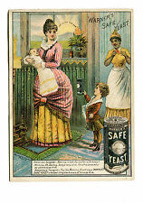 Victorian Trade Card WARNERS SAFE YEAST Mother & Sick Baby