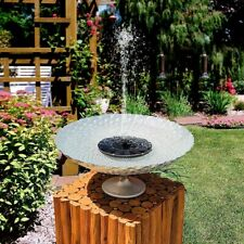 (2) Pair of Mini Solar Power Water Fountain Garden Decor Pump Floating Bird Bath
