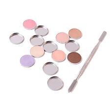 Empty Metal Iron Pans Fit Magnetic Palette plus Cosmetic De-potting Spatula Tool