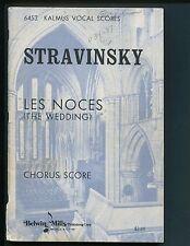 Kalmus Vocal Scores 6453, Stravinsky, Les Noces (The Wedding), Chorus Score