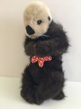 Applause 1990 Plush World Wildlife Fund North American Sea Otter with Starfish