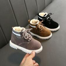 New Winter Kids Warm Shoes Baby Boys Girls Martin Boots Toddler Size 5-11