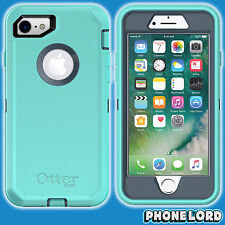 Genuine OtterBox Defender case cover for iPhone 7 8 TOUGH Borealis Teal Aqua