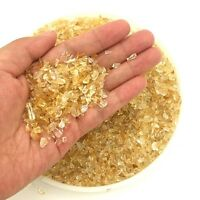300G Natural Mini Stone Chip Rough Rock Yellow Point Quartz Crystal Chips Lucky