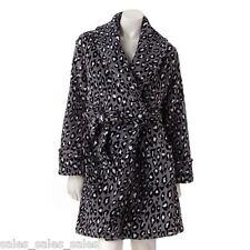 Women's Bath Robe Size XL Croft Barrow Leopard Animal Print