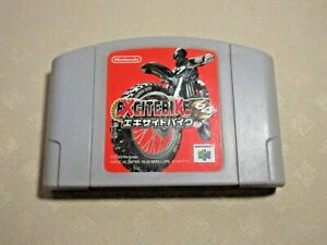 Excitebike Nintendo 64 N64 2000 games Authentic tested only cartridge game Japan