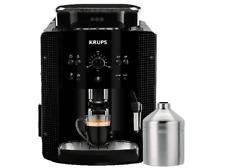 Cafetera express-Krups EA81M8, 15 bares, 1.7 L,Espumador leche, 260g café, Negro
