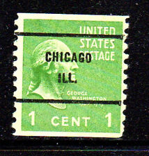 #839    1  CENT   PRESIDENTIAL SERIES    PRE CANCEL CHICAGO, ILL.  USED     g