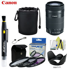 Canon EF-S 55-250mm F4-5.6 IS STM Lens for Canon SLR Cameras W/ I3ePro Accessory