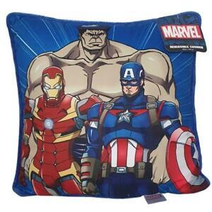 2 x Marvel Avengers Cushion Iron Man Hulk Captain America 40x40cm Kids Official