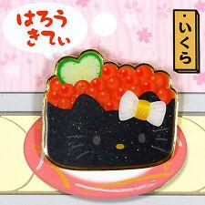 Hello Kitty Pin badge 'sushi ikura salmon roe' 2015 Japan NWT