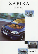 Prospekt Opel Zafira Zubehör 3/99 Autoprospekt 1999 Broschüre Auto brochure bros