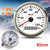 85mm Digital Stainless GPS Speedometer 0-120Km/h Car Boat Truck Gauge Waterproof
