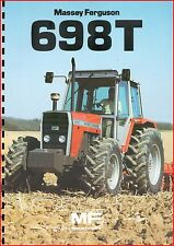 French Original  Prospect  Tracteur Tractor Massey Ferguson MF 698 T _  2 Pages