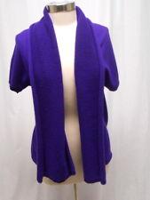 JIL SANDER Cashmere Purple short sleeve sweater SZ 40/6 SO CUTE!