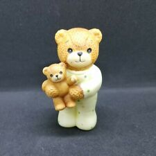 1985 Enesco, Lucy & Me Porcelain Figurine, Child Bear with Pjs Collectible