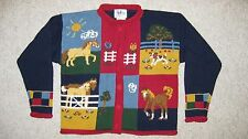 ~ New Millers Childs Sweater Cardigan w/ Horses Girls M Medium 6 / 6X Orig. $70