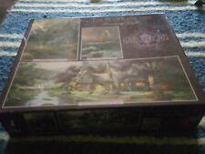 Deluxe Set Thomas Kinkade 3 Puzzles In One