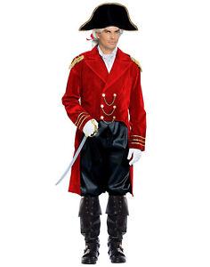 Red 18 Century Great Britain General Adult Halloween Costume