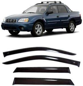 For Subaru Baja 2002-2006 Side Window Visors Sun Rain Guard Vent Deflectors