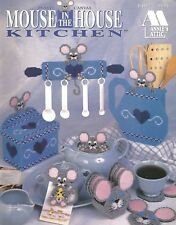 Mouse in the House Kitchen Plastic Canvas Patterns Coasters Magnets Annies Attic