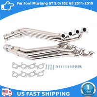 STAINLESS LONG TUBE HEADER EXHAUST MANIFOLD FOR 11-16 FORD MUSTANG GT V8 5.0/302
