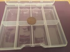 Card Making X  8 Plastic Storage Boxes Ideal For Storing Embellishments/clearout