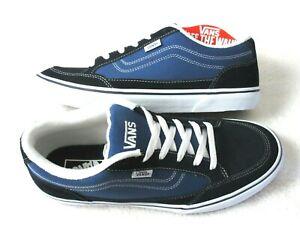 Vans Mens Bearcat Canvas Suede Classic Skate shoes Navy Blue White Size 10.5