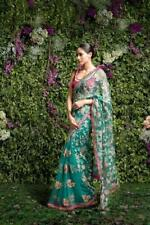 Saree Sari Indian New Floral Wedding HEAVY EMBROIDERY Designer Wear Print Party