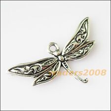 12 New Animal Dragonfly Wings Tibetan Silver Tone Charms Pendants 17x31.5mm