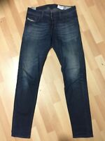 WORN Mens Diesel SLEENKER STRETCH Denim 0837J DARK BLUE Slim W32 L32 H6 RRP£150