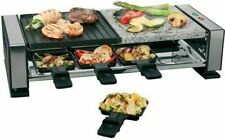 Raclette Grill Table Grill 1400W Natural Stone Raclette Grill Raklette 8 Pans Sc