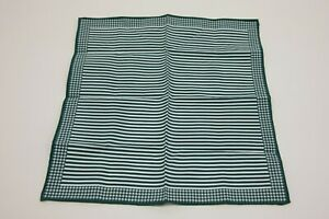 NWT Brunello Cucinelli Men's Pinstripe + Houndsooth Patterned Pocket Square A201