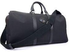 Auth Hunting World & Mercedes Benz Boston Shoulder Hand Bag Excellent Black N772