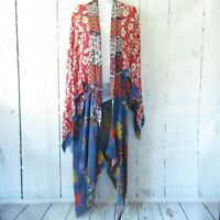 New Umgee Duster Kimono Cardigan 1X 2X Floral Mixed Print Boho Peasant Plus Size