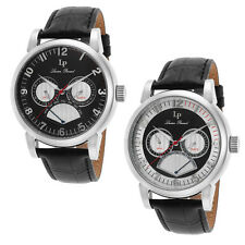 Lucien Piccard Montana Retrograde Day Mens Watch - Choose color
