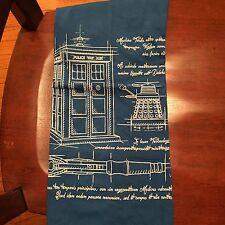 Teefury Men's MEDIUM Blue T-Shirt Time Travel Schematic Tardis Dalek Doctor Who