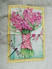 """Dragonflies and Flowers Garden Flag 12""""x18"""""""