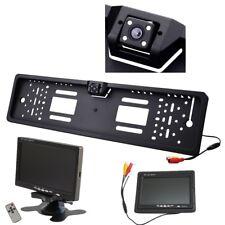 Rückfahrkamera Kennzeichen Nummernschild mit Nachtsicht 4x IR LED 7 Zoll Monitor