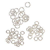 60pcs Assorted Jewelry Findings Sterling Silver Open Jump Rings 3mm 4mm 6mm