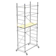 Trabattello in alluminio Zeus Marchetti con 2 piani di lavoro