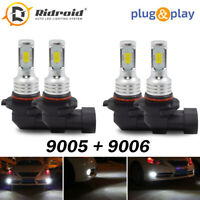 2pairs 9005 9006 Combo LED Headlight Kit High Low Beam Bulb 6000K 120W 32000LM