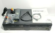 Sensory Science DDV2120 VHS Dual Deck VCR w/ Remote and Instruction Booklet
