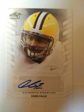 2013 Leaf Draft Chris Faulk Cleveland Browns LSU - Auto White