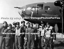 Army Air Corps WWII Boeing B17 Flying Fortress Airplane Memphis Belle Crew Photo