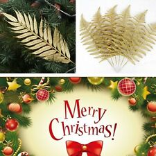 Deluxe Christmas Party Glitter Sparkle ASH Leaf Garland Decoration Xmas Tree Toy