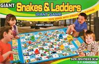 Giant Snakes & Ladders Game SOFT TOY Traditional Family out door Game PLAYSET