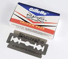 100 pcs  X GILLETTE WILKINSON SWORD RAZOR BLADES Double Edge Safety Razor Blade